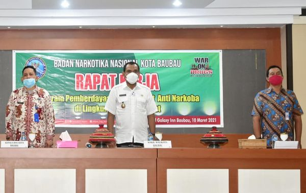 Wawali Baubau : Berantas Narkoba Butuh Sinergitas Pemerintah dan Masyarakat